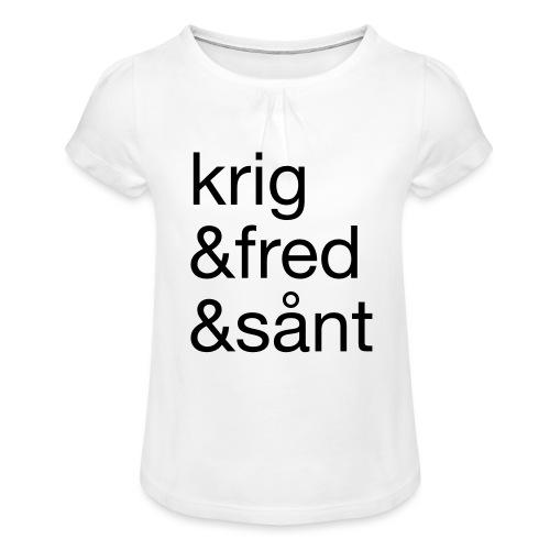 krig&fred&sånt - fra Det norske plagg - Jente-T-skjorte med frynser
