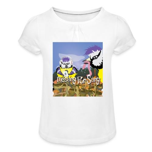 Mesang Pur Sang - Meisjes-T-shirt met plooien