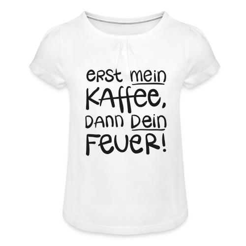 Tassentext - Mädchen-T-Shirt mit Raffungen
