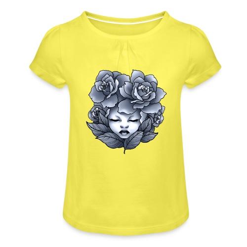 Flower Head - T-shirt à fronces au col Fille