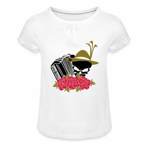 Rock Harmonika - Mädchen-T-Shirt mit Raffungen