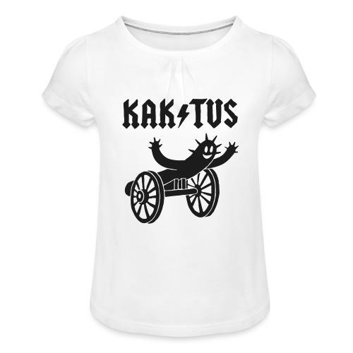 Kaktus Rock - Mädchen-T-Shirt mit Raffungen