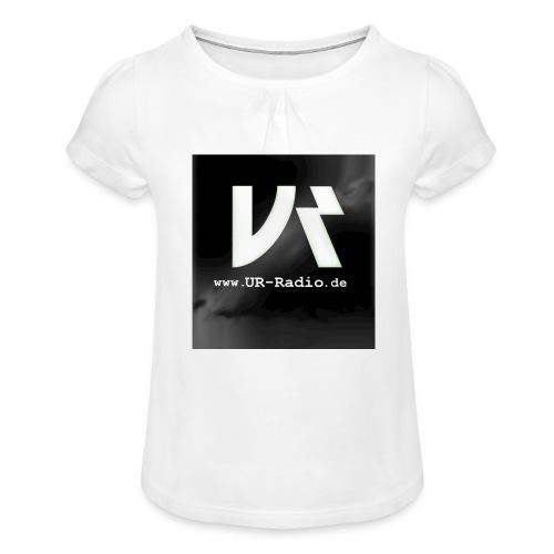 logo spreadshirt - Mädchen-T-Shirt mit Raffungen