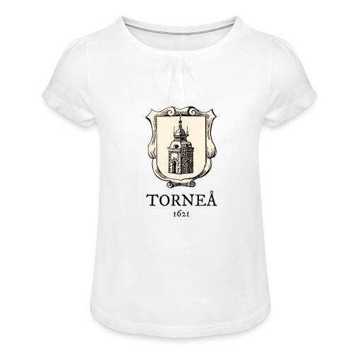 Torneå 1621 - Tyttöjen t-paita, jossa rypytyksiä