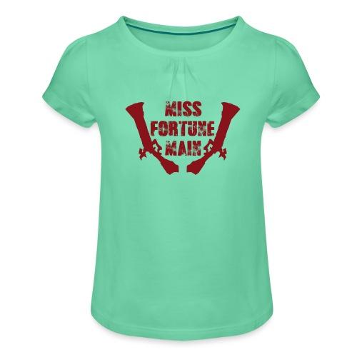 Miss Fortune Main - Mädchen-T-Shirt mit Raffungen