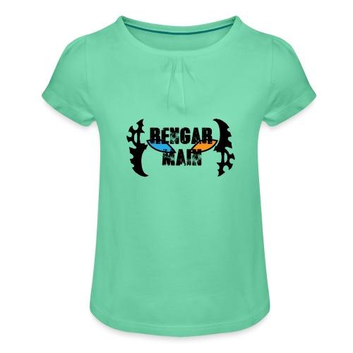 Rengar Main - Mädchen-T-Shirt mit Raffungen