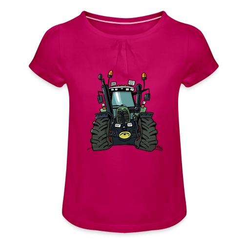 0255 F 824 - Meisjes-T-shirt met plooien