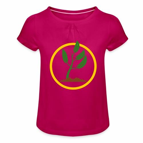 Setzlingemblem - Mädchen-T-Shirt mit Raffungen