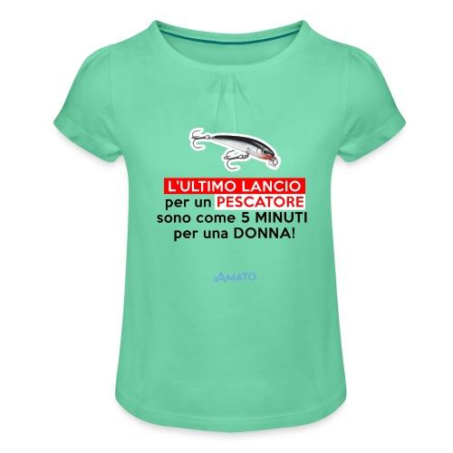 L'ultimo lancio - Maglietta da ragazza con arricciatura
