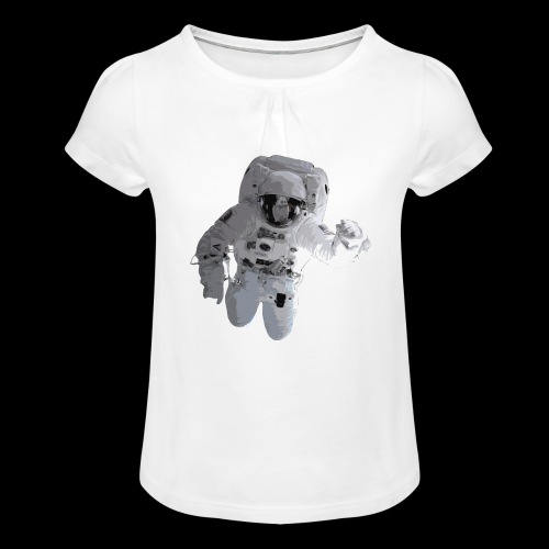 Astronaut No. 2 - Girl's T-Shirt with Ruffles