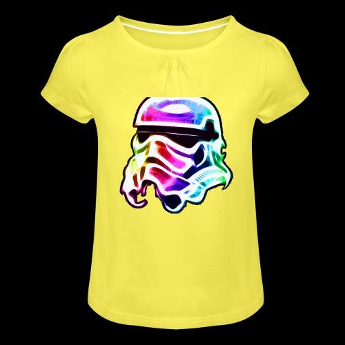 Rainbow Stormtrooper - Girl's T-Shirt with Ruffles