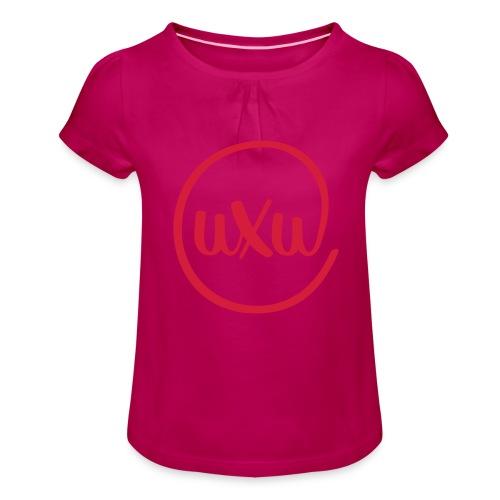 UXU logo round - Girl's T-Shirt with Ruffles