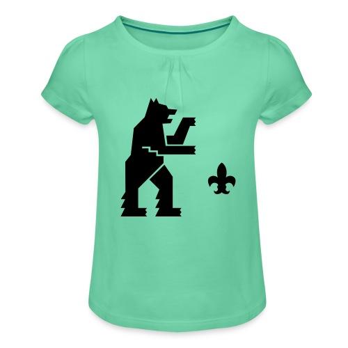 hemelogovektori - Tyttöjen t-paita, jossa rypytyksiä