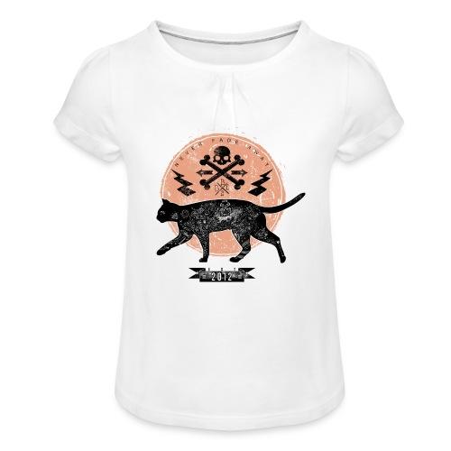 Catwalk - Mädchen-T-Shirt mit Raffungen
