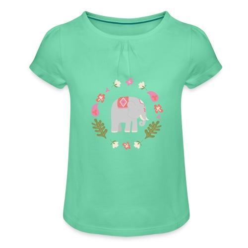 Indian elephant - Maglietta da ragazza con arricciatura