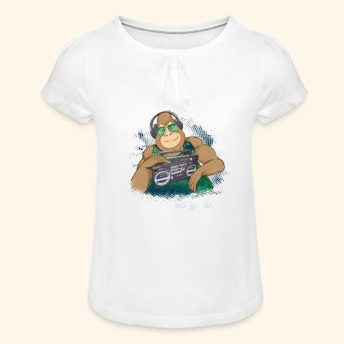 Gorilla Jungle Hiphop - Camiseta para niña con drapeado