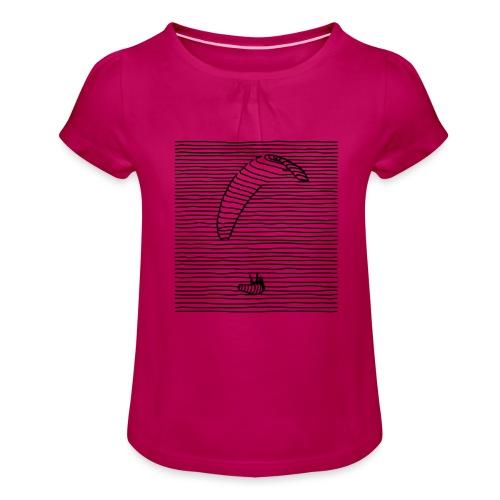 Paraglider - Mädchen-T-Shirt mit Raffungen
