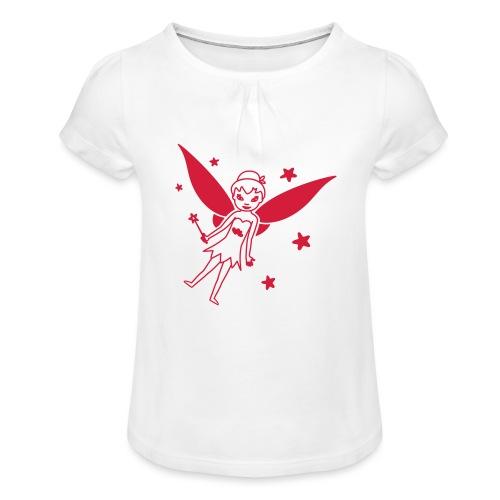 Motif Fée - T-shirt à fronces au col Fille