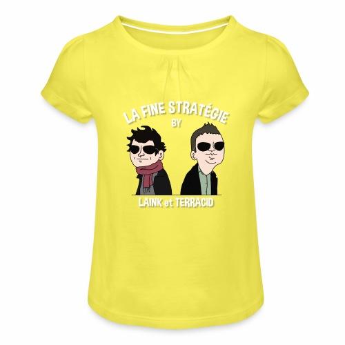 lafinestratégie - T-shirt à fronces au col Fille