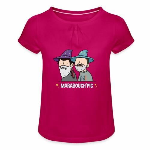 Marabouch'pic - T-shirt à fronces au col Fille