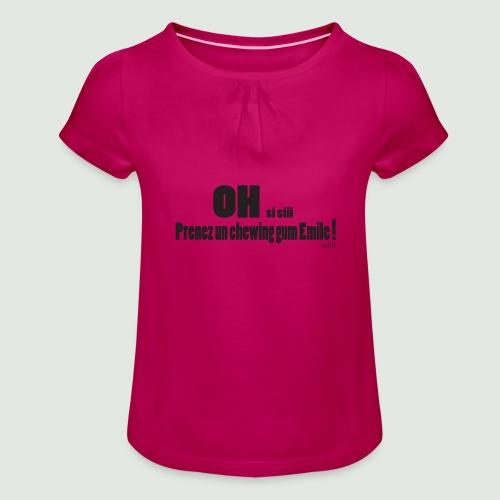 chewing gum Emile - T-shirt à fronces au col Fille