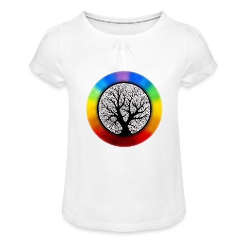 tree of life png - Meisjes-T-shirt met plooien