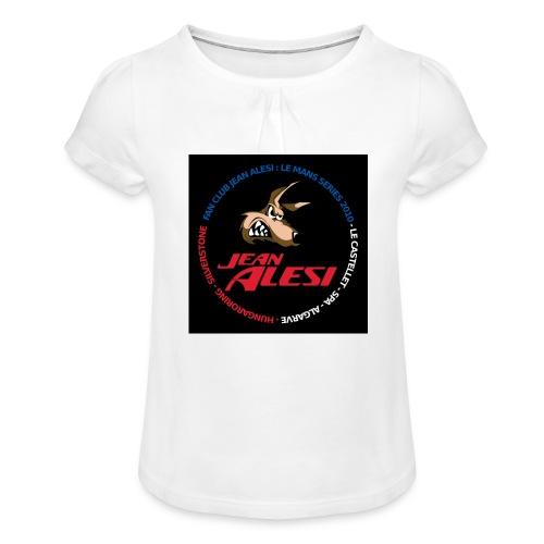 fanclubnoir - T-shirt à fronces au col Fille