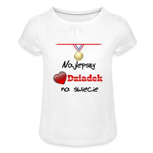 nadruk_rodzinne_01 - Koszulka dziewczęca z marszczeniami