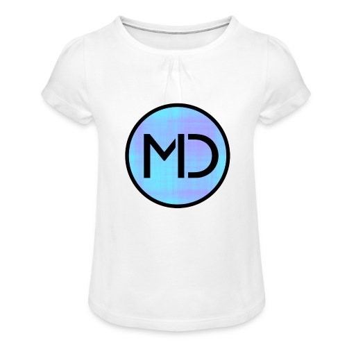 MD Blue Fibre Trans - Girl's T-Shirt with Ruffles