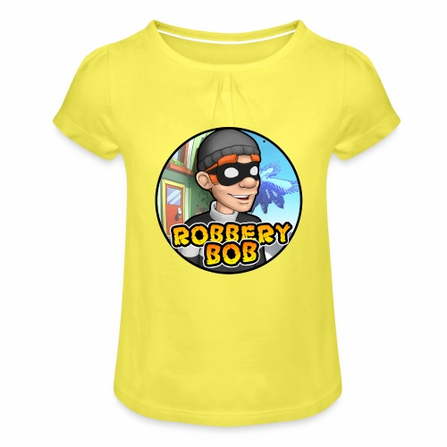 Robbery Bob Button - Girl's T-Shirt with Ruffles