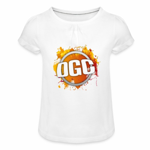 Merchlogo mega png - Meisjes-T-shirt met plooien