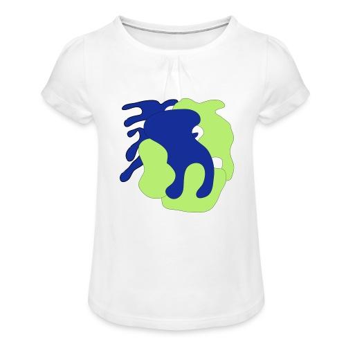 Macchie_di_colore-ai - Maglietta da ragazza con arricciatura