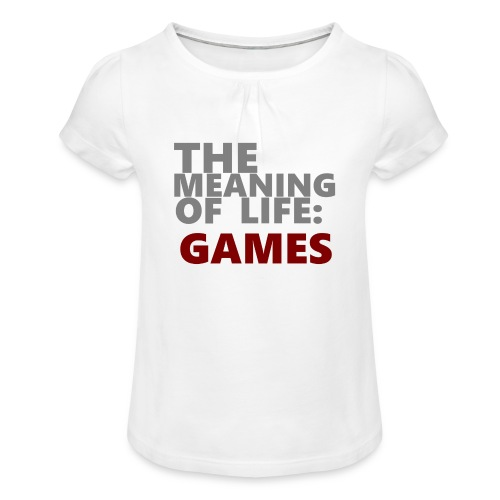 T-Shirt The Meaning of Life - Meisjes-T-shirt met plooien