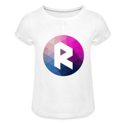radiant logo - Girl's T-Shirt with Ruffles