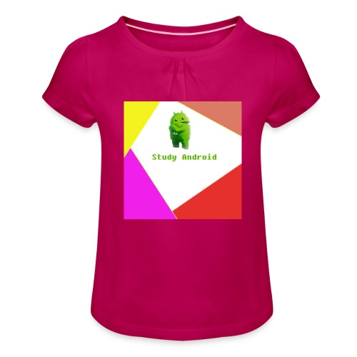 Study Android - Camiseta para niña con drapeado