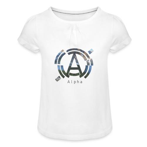 AlphaOfficial Logo T-Shirt - Girl's T-Shirt with Ruffles