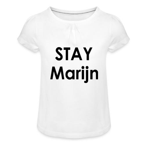stay marijn black - Meisjes-T-shirt met plooien