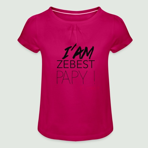 iamezbestpapy - T-shirt à fronces au col Fille