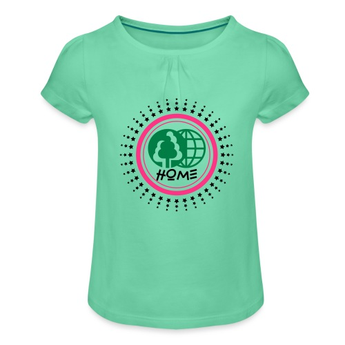 Planète home sweet home - Girl's T-Shirt with Ruffles