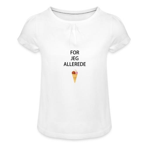Allerede is hagesmæk - Pige T-shirt med flæser
