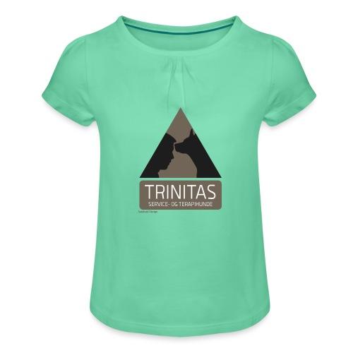 Trinitas Nøglesnor - Pige T-shirt med flæser