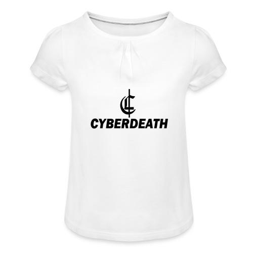 Cyberdeath Polo Tee - Mädchen-T-Shirt mit Raffungen