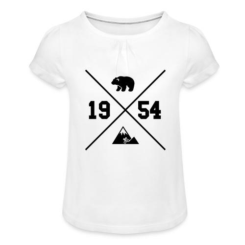 Karhuvuori -baseballhuppari - Tyttöjen t-paita, jossa rypytyksiä
