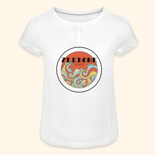 zeebonkwaves - Meisjes-T-shirt met plooien