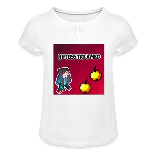 Logo kleding - Meisjes-T-shirt met plooien