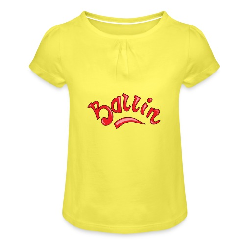 Ballin - Meisjes-T-shirt met plooien