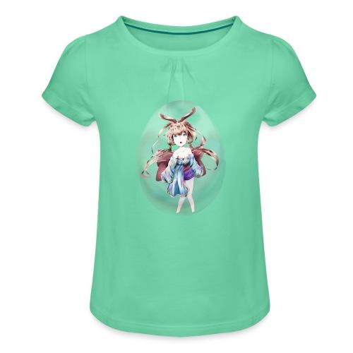 Usagi - Maglietta da ragazza con arricciatura