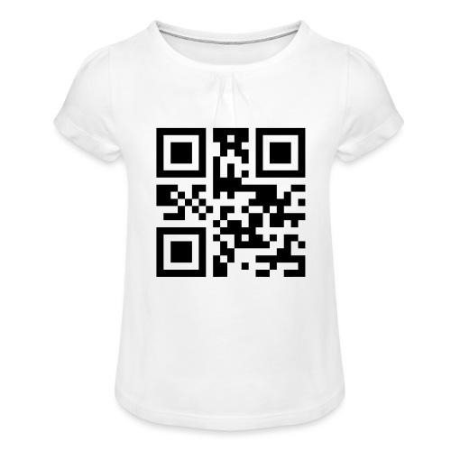 Sono Single QR Code - Maglietta da ragazza con arricciatura
