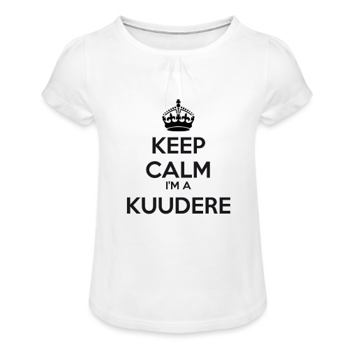 Kuudere keep calm - Girl's T-Shirt with Ruffles