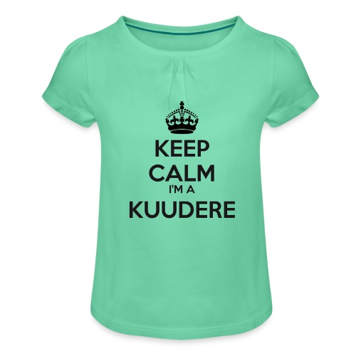 Kuudere keep calm - Girl's T-Shirt with Ruffles